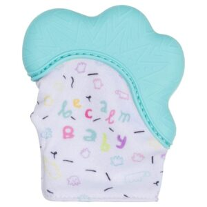 Becalm Baby Teething Mitten Teal