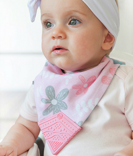 Petals Teething Bib Pretty