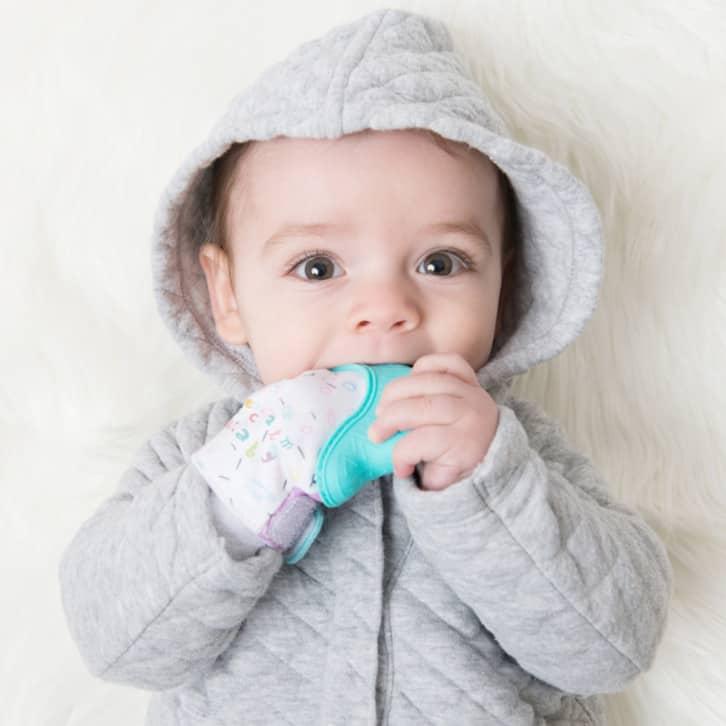 Becalm Baby Teething Mitten (Happy Hand)