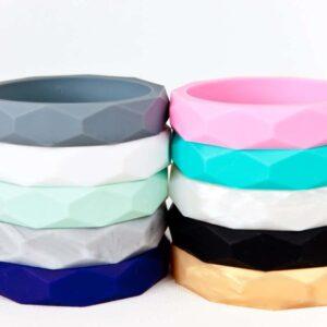 Geometric Silicone Bracelets
