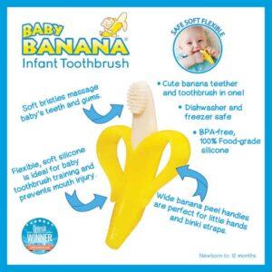 Baby Banana Toothbrush Teether