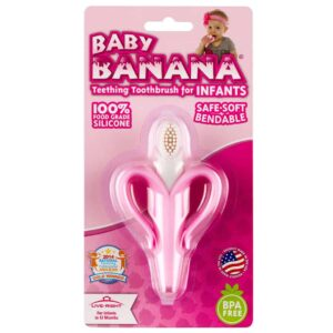 banana infant toothbrush pink 2