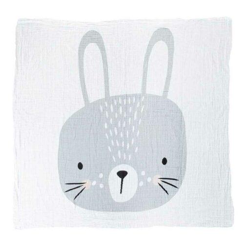 Muslin Swaddle Mister Fly Rabbit bunny