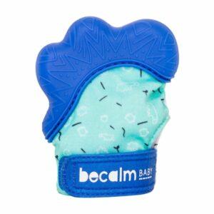 Becalm Baby Teething Mitt - Royal Blue