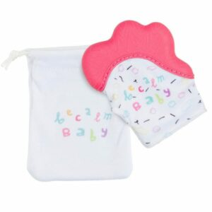 Becalm Baby Teething Mitt  and Bib Combo - Choose Colours