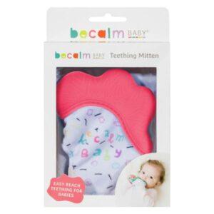 Becalm Baby Teething Mitt x 2 - Choose Colours