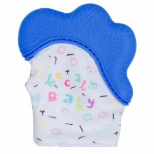 Becalm Baby Teething Mitten Blue
