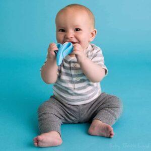Baby Banana Toothbrush Blue