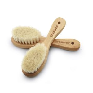 Haakaa Goat Wool Wooden Baby Hair Brush