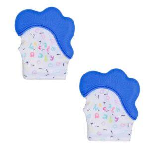 Becalm Baby Teething Mitten Blue Blue