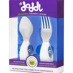 DODDL blue spoon and fork 2 piece cutlery set