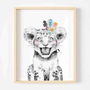 Digital Art Safari Animals tiger