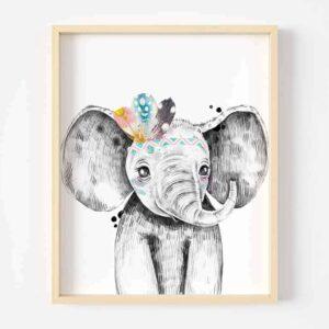 Digital Art Safari Animals Elephant