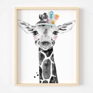Digital Art Safari Animals Girfaffe