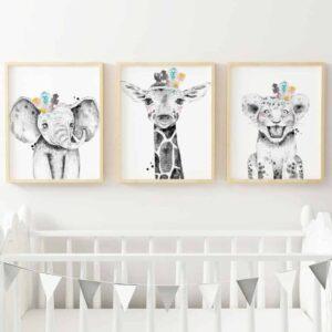 Digital Art Safari Animals Nursery