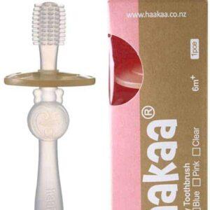 Haakaa 360 degree toothbrush clear