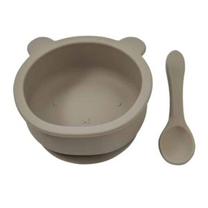 Becalm Baby Silicone Suction Bear Bowl and Spoon