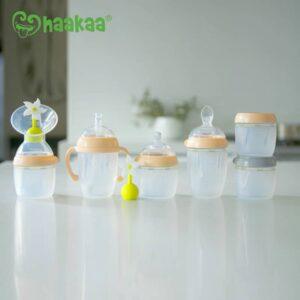 Haakaa Premium Generation 3 Pump and Bottle Peach