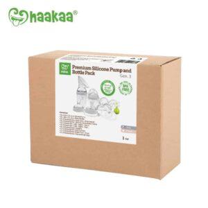 Haakaa Premium Generation 3 Pump and Bottle Pack Grey