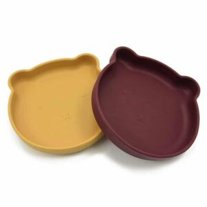 Bear Suction Plate with Spoon and Fork Set