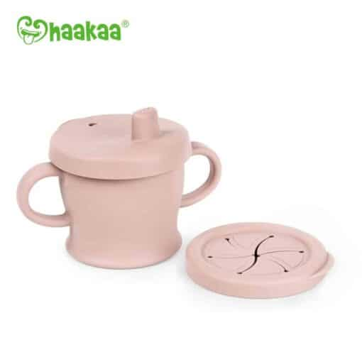 Silicone Sip-N-Snack Cup blush