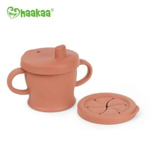 Silicone Sip-N-Snack Cup Rust