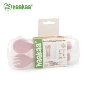 Haakaa Bendy Silicone Cutlery Set
