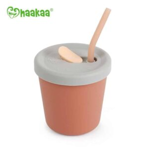 Haakaa Sippy Straw Cup Rust
